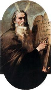 Mozes met de 10 geboden